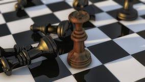 Schachfiguren und Brett Lizenzfreie Stockfotografie