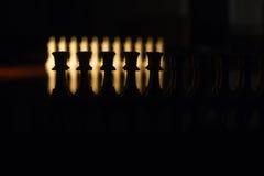 Schachfigurnahaufnahme auf dem Brett Stockbild