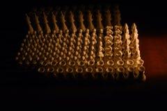 Schachfigurnahaufnahme auf dem Brett Stockfoto