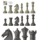 Schachfigursatz Lizenzfreie Stockfotos