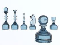 Schachglasabbildungen Stockfoto