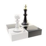 Schachikonenabbildung des Pfandgegenstands und des Königs Stockfotografie