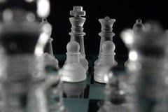 Schachkönig und -königin Lizenzfreies Stockbild
