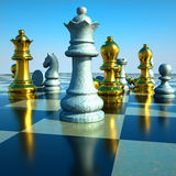 Schachkampf Lizenzfreie Stockfotografie