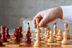 Schachkampf Stockbild