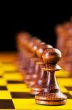 Schachkonzept mit Stücken Lizenzfreies Stockfoto