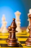 Schachkonzept mit Stücken Stockbilder
