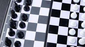 Schachkonzeptabwehr der König und spart die Strategie stock video