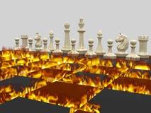 Schachkrieg 1 stock abbildung