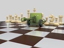 Schachkrieg 2 vektor abbildung