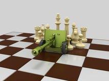 Schachkrieg 5 stock abbildung