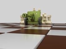 Schachkrieg 7 stock abbildung