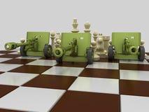 Schachkrieg 8 stock abbildung