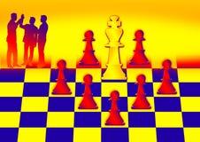 Schachlösung Stockbild
