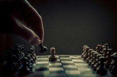 Schachmatch Stockfotografie