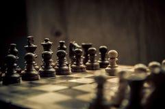 Schachmatch Stockfoto