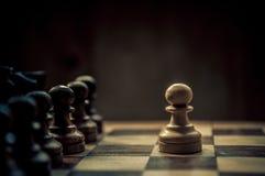 Schachmatch Lizenzfreie Stockfotografie