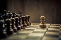Schachmatch Stockfotos