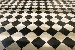 Schachmusterboden Stockfoto