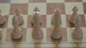 Schachpfand mit flacher Schärfentiefe stock video footage
