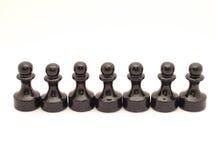 Schachpfandgegenstände Stockfotos