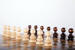 Schachpfandgegenstände Stockfoto