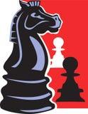 Schachpfandgegenstände Stockbild