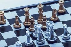 Schachposition für die Sieger Stockbild