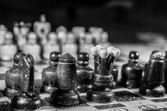 Schachschwarzweiss-Ausgabe stockfotografie