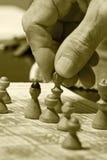 Schachspiel Stockbild