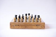 Schachspiel bereit zu beginnen Stockfotografie