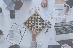 Schachspiel-Geschäftsstrategiekonzept stockfotos