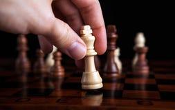 Schachspiel-Königbewegung Stockbilder