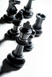 Schachspiel oder -Schachfiguren Stockbild
