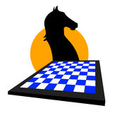 Schachspielauslegung Lizenzfreie Stockbilder