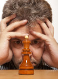 Schachspieler Lizenzfreies Stockfoto