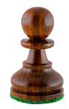 Schachstück - schwarzer Pfandgegenstand lizenzfreies stockbild