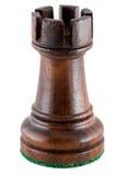Schachstück - schwarzer Turm Stockbild