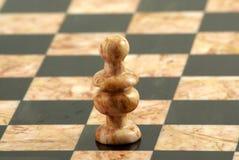 Schachstück, weißer Bishop Stockfotos
