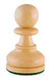 Schachstück - weißer Pfandgegenstand Lizenzfreies Stockfoto