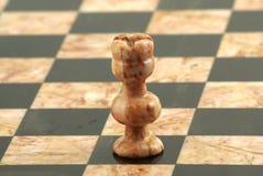 Schachstück, weißer Turm Stockfoto