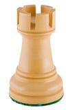 Schachstück - weißer Turm Lizenzfreie Stockfotos