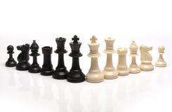 Schachstücke Stockbild