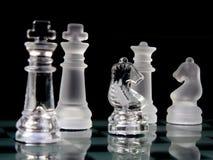 Schachstücke lizenzfreie stockfotografie