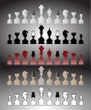 Schachstücke eingestellt Stockbild