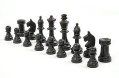 Schachstücke getrennt auf Weiß lizenzfreie stockbilder