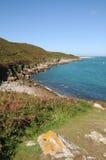 Schacht auf der Küste von Herm Lizenzfreie Stockfotos