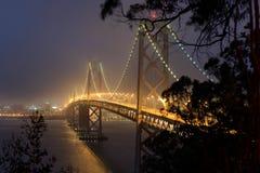 Schacht-Brücke nachts Lizenzfreie Stockbilder