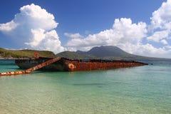 Schacht des Majors - Str. Kitts Stockfotos