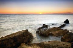 Schacht-Sonnenuntergang stockbilder
